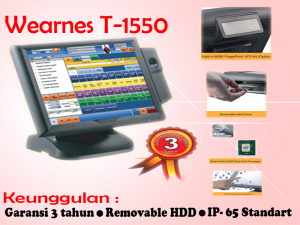 JUAL POS TOUCHSCREEN T-1550 FULL SET